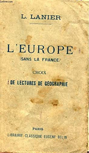 L'EUROPE (SANS LA FRANCE) - CHOIX DE: L. LANIER