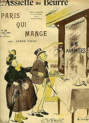 """L'Assiette au Beurre N°228. """"Paris qui mange"""".: TRIOU André"""