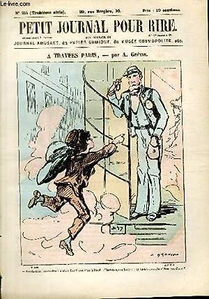 Petit journal pour rire N°214 de la 3è série, A travers Paris par Grévin.:...