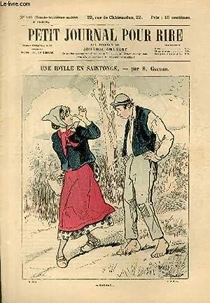 Petit journal pour rire N°155 de la 4è série, Une idylle en Saintonge par Gautier...