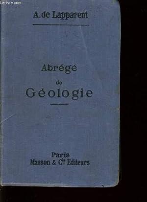 ABREGE DE GEOLOGIE: A. DE LAPPARENT