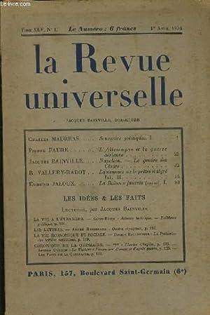 LA REVUE UNIVERSELLE tome XLV n°1 : JACQUES BAINVILLE DIRECTEUR