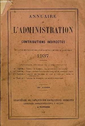 ANNUAIRE DE L' ADMINISTRATION des contributions indirect: COLLECTIF