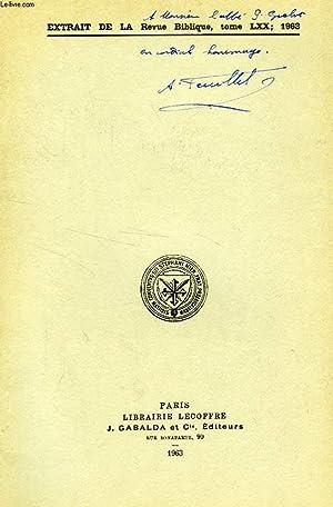 EXTRAIT DE LA REVUE BIBLIQUE, TOME LXX, 1963, L'ENIGME DE I Cor., II, 9: FEUILLET ANDRE, S. S.