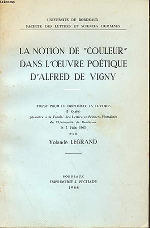 """LA NOTION DE """"COULEUR"""" DANS L'OEUVRE POETIQUE D'ALFRED DE VIGNY: YOLANDE ..."""