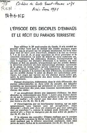 L'EPISODE DES DISCIPLES D'EMMAÜS ET LE RECIT DU PARADIS TERRESTRE: MAGNE JEAN