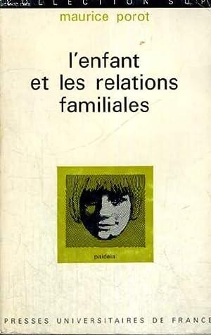 L'ENFANT ET LES RELATIONS FAMILIALES - PAIDEIA: DOCTEUR M. POROT