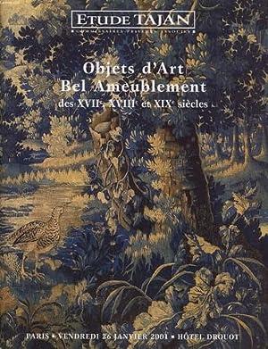 CATALOGUE DE VENTE OBJET D'ART, BEL AMBEUBLEMENT: ETUDE TAJAN commissaires