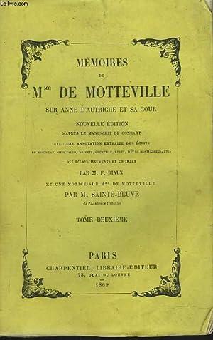 MEMOIRES DE Mme DE MOTTEVILLE SUR ANNE D'AUTRICHE ET SA COUR, TOME II.: M. DE SAINTE-BEUVE