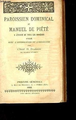 PAROISSIEN DOMINICAL ET MANUEL DE PIETE, A: ABBE H. DELEPINE