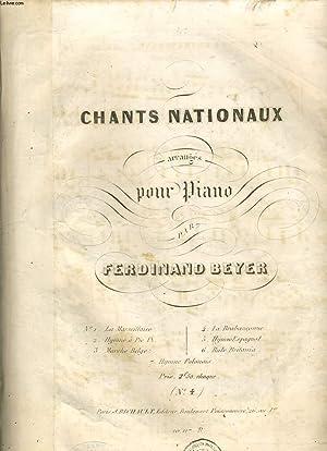 CHANTS NATIONAUX arrangés pour piano la brabanconne: FERDINAND BEYER