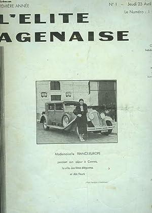 L'ELITE AGENAISE N°1, PREMIERE ANNEE. JEUDI 23: JACQUES D'AGEN (LE