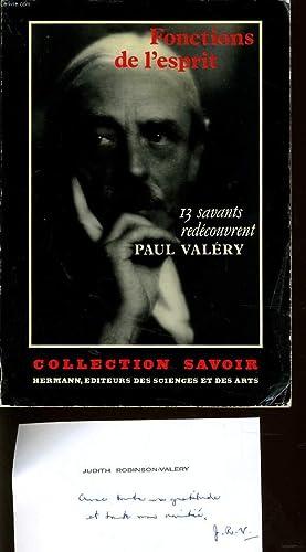 FONCTIONS DE L'ESPRIT 13 savants redécouvrent Paul Valéry: JUDITH ROBINSON VALERY