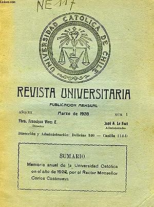 REVISTA UNIVERSITARIA, 1928-1981, 24 NUMEROS (INCOMPLET): COLLECTIF