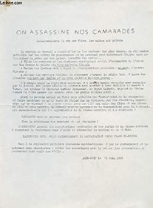 TRACTE: ON ASSASSINE NOS CAMARADES: AGEB-UNEF