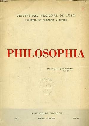 PHILOSOPHIA, AÑO IX, N° 15, 1952: COLLECTIF