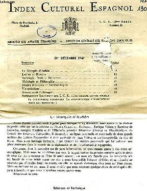INDEX CULTUREL ESPAGNOL, 1947-1969 (INCOMPLET): COLLECTIF