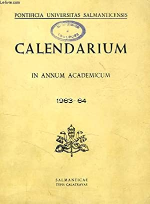 CALENDARIUM IN ANNUM ACADEMICUM 1963-1964: COLLECTIF