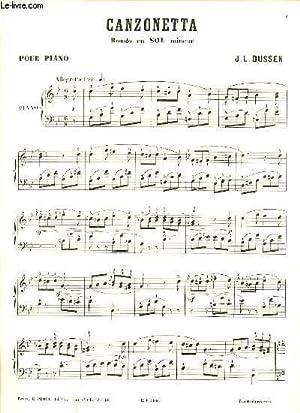 CANZONETTA RONDO EN SOL MINEUR POUR PIANO.: J.L.DUSSEK.