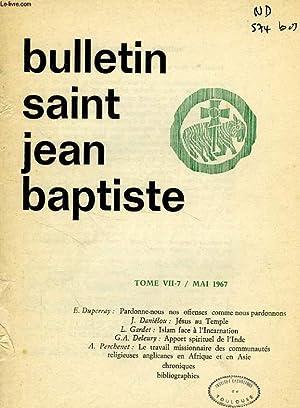 BULLETIN DU CERCLE SAINT JEAN-BAPTISTE, VII-7, MAI 1967: COLLECTIF