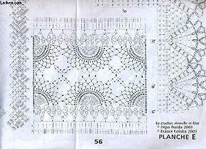 PATRON LE CROCHET DENTELLE ET FILET (planche E): COLLECTIF