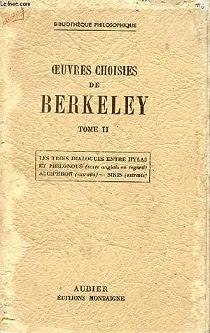 OEUVRES CHOISIES DE BERKLEY - TOME II.: COLLECTIF