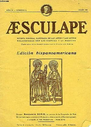 AESCULAPE, AÑO II, N° 5, JULIO 1931, REVISTA MENSUAL ILUSTRADA DE LAS ARTES Y LAS LETRAS...