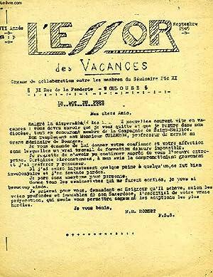 L'ESSOR, XVIIe ANNEE, N° 5, SEPT. 1949, ORGANE DE COLLABORATION DU SEMINAIRE PIE XI: COLLECTIF