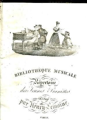 BIBLIOTHEQUE MUSICALE OU REPECTOIRE DES JEUNES PIANISTES. 1er VOLUME.: HENRY LEMOINE.