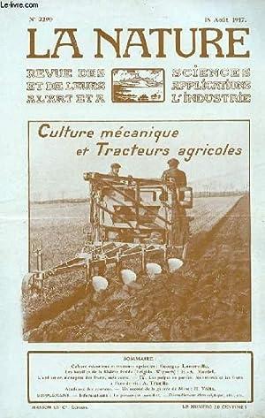 Revue des sciences et de leurs applications aux arts et à l'industrie, culture m&eacute...
