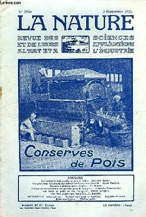 Revue des sciences et de leurs applications aux arts et à l'industrie, Conseves de pois...