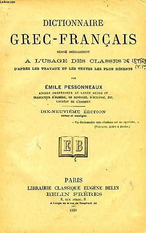 DICTIONNAIRE GREC-FRANCAIS: PESSONNEAUX EMILE