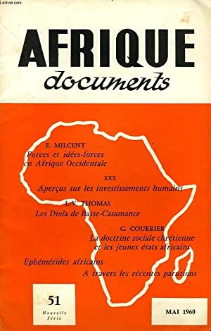 AFRIQUE DOCUMENTS, 1960-1969, 40 NUMEROS (INCOMPLET): COLLECTIF