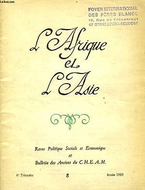 L'AFRIQUE ET L'ASIE, N° 8, 4e TRIM. 1949: COLLECTIF