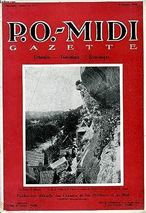 P.O.-MIDI, N° 21, JAN. 1925, GAZETTE LITTERAIRE, TOURISTIQUE, ECONOMIQUE: COLLECTIF