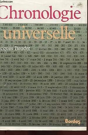 CHRONOLOGIE UNIVERSELLE: JACQUES BOUDET