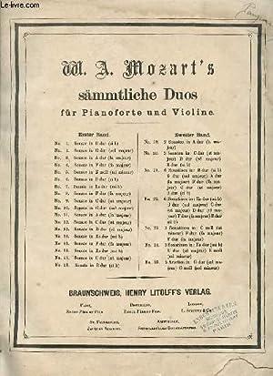 SÄMMTLICHE DUOS FÜR PIANOFORTE UND VIOLINE.: W. A. MOZART'S.