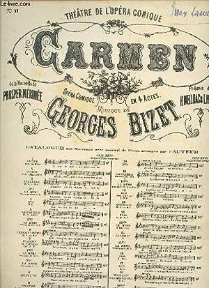 CARMEN. OPERA EN 4 ACTES. CANTABILE.: GEORGES BIZET.