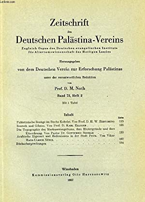 ZEITSCHRIFT DES DEUTSCHEN PALÄSTINA-VEREINS, BAND 73, HEFT 2, 1957: COLLECTIF