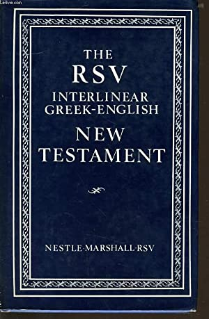 THE RSV INTERLINEAR GREEK ENGLISH NEW TESTAMENT