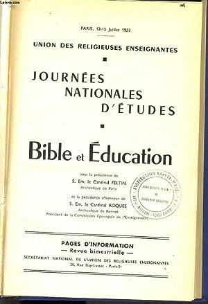 JOURNEES NATIONALES D'ETUDES - BIBLIE ET EDUCATION: CARDINAL FELTIN & ROQUES
