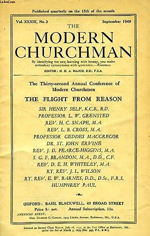 THE MODERN CHURCHMAN, VOL. XXXIX, N° 3, SEPT. 1949: COLLECTIF