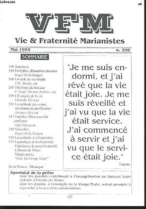 VIE ET FRATERNITE MARIANISTES n°298 : annonces,: CHRISTINE DE SEZE