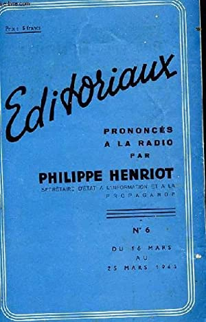 EDITORIAUX PRONONCES A LA RADIO PAR PHILIPPE: COLLECTIF