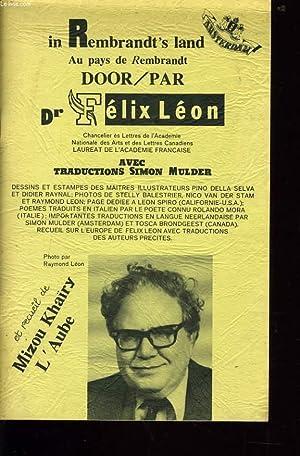 IN REMBRANDT'S LAND au pays de Rembrandts: Dr FELIX LEON
