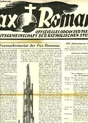 PAX ROMANA, JAHR II., Nr. 5, MARZ. 1937, OFFIZIELLES ORGAN DER PAX ROMANA, WELT-ARBEITSGEMEINSCHAFT...