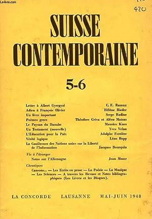 SUISSE CONTEMPORAINE, N° 5-6, MAI-JUIN 1948: COLLECTIF