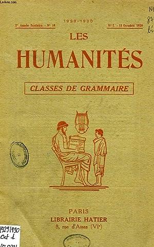 LES HUMANITES, CLASSES DE GRAMMAIRE, 2e ANNEE, N° 10, OCT. 1929: COLLECTIF