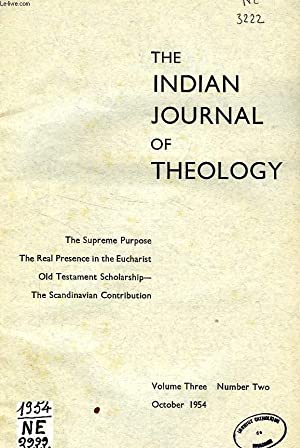 THE INDIAN JOURNAL OF THEOLOGY, VOL. III, N° 2, OCT. 1954: COLLECTIF