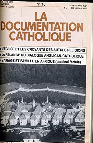 LA DOCUMENTATION CATHOLIQUE n° 16 : L'église: COLLECTIF